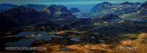 Vue aérienne des Monts Torngat. Photo de Bill Pratt.