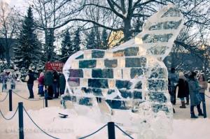 Ice Polar Bear - Winterlude 2013 - Confederation Park, Ottawa