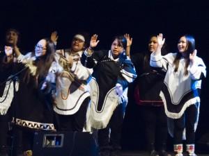 Dancing performance by the Nunavut Sivuniksavut students.