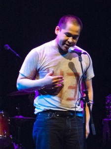"""Rapper Brian Tagalik who performed his song """"The Struggle"""", a very moving song about suicide. He got a well deserved standing ovation."""