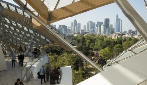 The terraces of the Louis Vuitton Foundation.