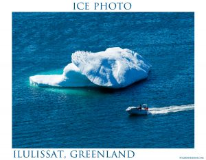 Ice Photo #2 - Speedboat in Disko Bay