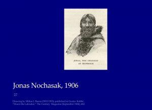 Jonas Nochasak, organist at Hopedale, Nunatsiavut, 1906