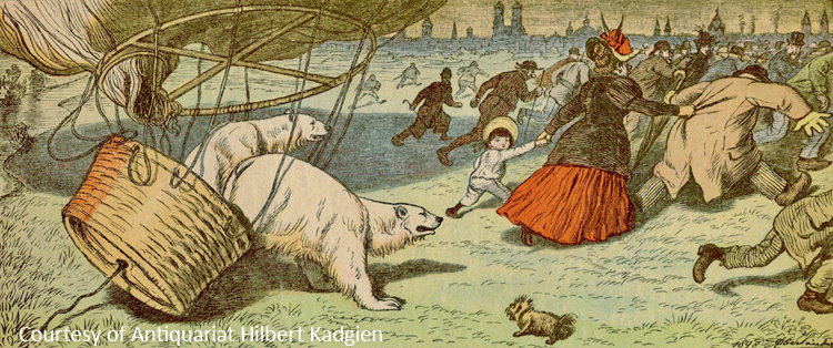 Illustration from a German children's book, 1928
