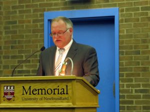 John Griffin, President of the Museum Association of Newfoundland and Labrador